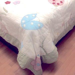 Twin set of bedding comforter & pillow case